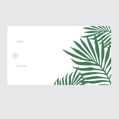 Palm Leaves Gift Tags
