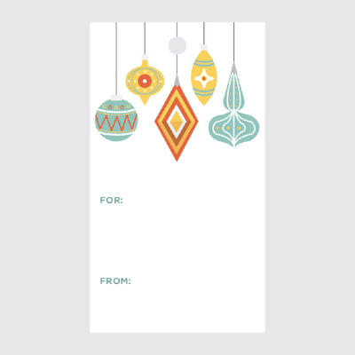 Palm Springs Christmas Ornaments Gift Tags
