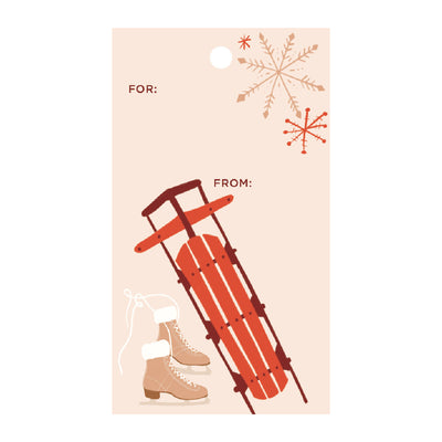 Snow Sports Gift Tags