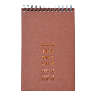 Revel Paper Monument Terracotta bound notebook