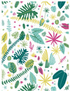 Jungle leaves gift wrap by Revel & Co.