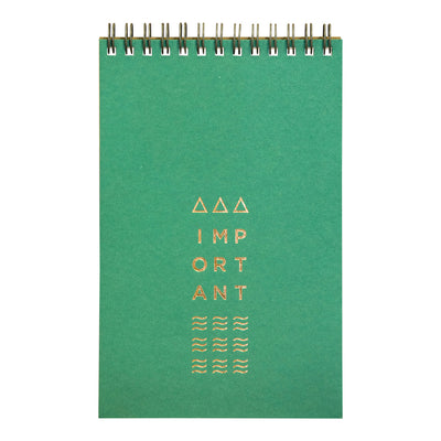 Juniper green small wire bound notebook by Revel Paper