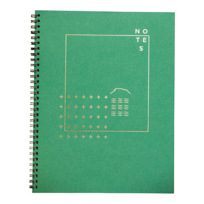 Juniper green wire bound notebook by Revel Paper