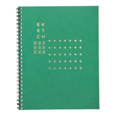 Juniper green sketchbook by Revel Paper