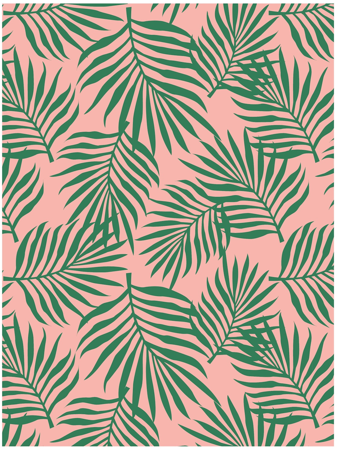 palm leaves tropical gift wrap by revel co