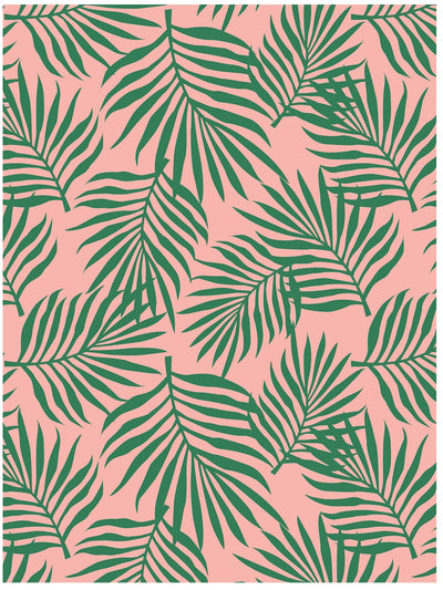 Palm leaves tropical wrapping paper by Revel & Co.