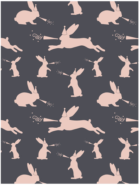 Party hare rabbit wrapping paper by Revel & Co.