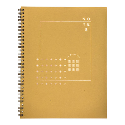 Prickly pear yellow wire bound notebook with copper foil cover by Revel Paper