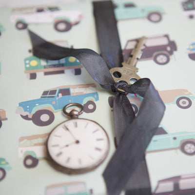 Jeeps and trucks wrapping paper