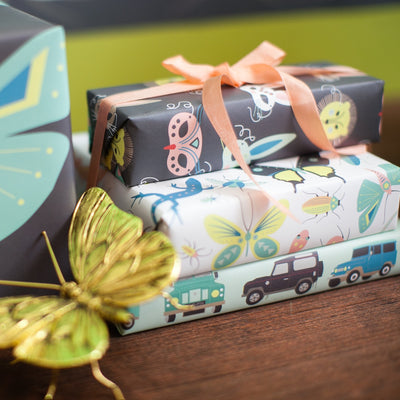 Children's coordinating gift wrap by Revel & Co.
