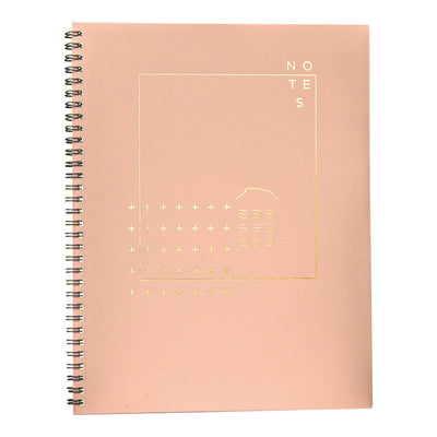 Pink rose quartz notebook with copper foil cover by Revel Paper