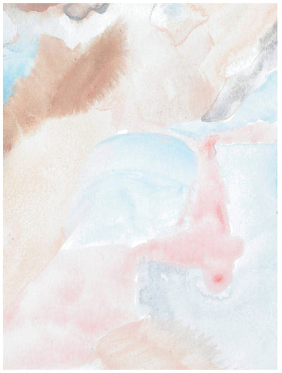 Rose quartz quarry watercolor abstract wrapping paper by Revel & Co.