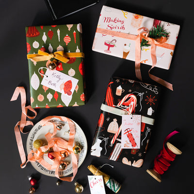 Holiday Spirits Gift Wrap