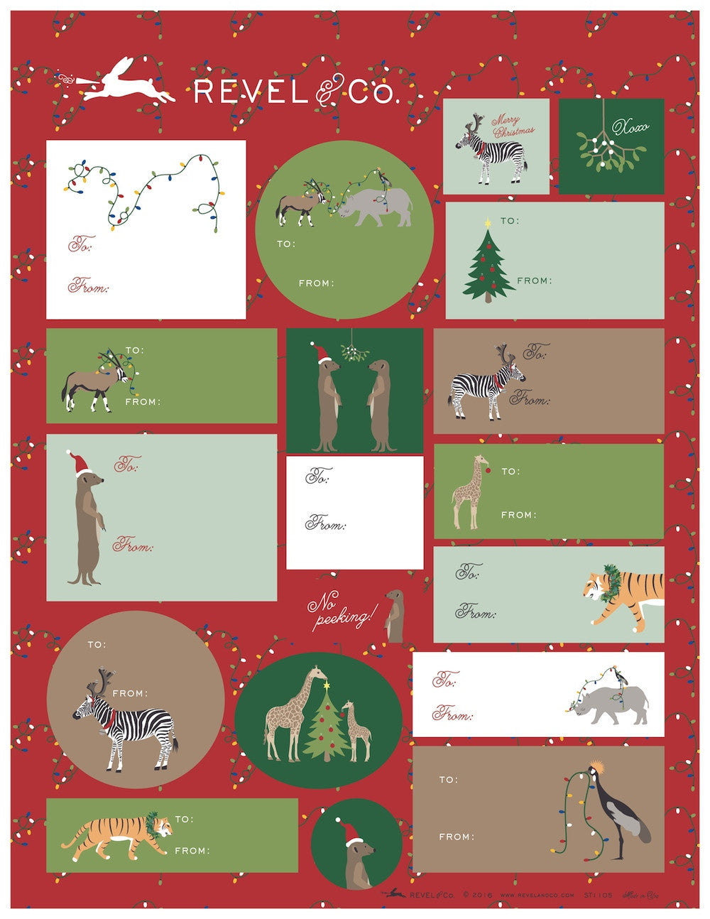 Holiday Animal Gift Tags by Revel & Co.