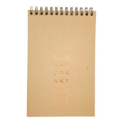 Shale gray wire bound notebook by Revel Paper