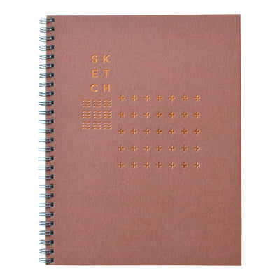 Terracotta sketch book with copper foil cover. Revel Paper for the modern desk