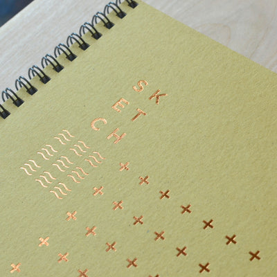 Prickly pear chartreuse cover and copper foil design by Revel Paper.