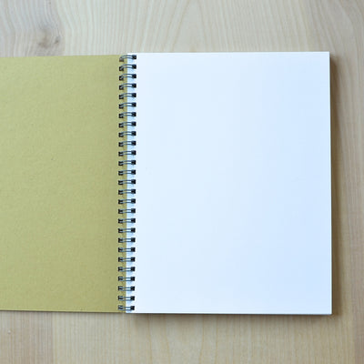 Sketch book interior pages. Revel Paper for the modern desk.