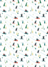 Snowboarding bears whimsical Christmas gift wrap by Revel & Co.