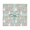 Gnomes whimsical Christmas wrapping paper by Revel & Co.