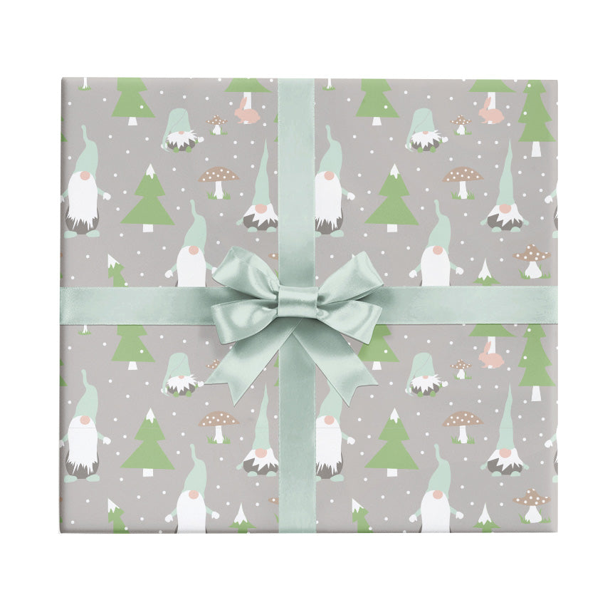 gnomes whimsical christmas wrapping paper by revel