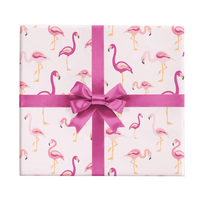 Flamingo wrapping paper by Revel & Co.