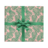 Plants on pink palm leaves wrapping paper by Revel & Co.