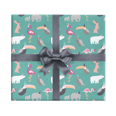 Party animals children's gift wrap by Revel & Co.