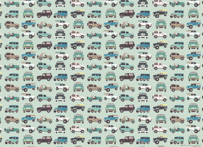 Jeeps children's gift wrap by Revel & Co.