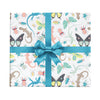 Children's wrapping paper with lizards and butterflies and bugs by Revel & Co.