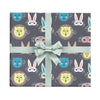 Children's wrapping paper with animal masks by Revel & Co.