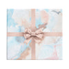 Rose Quartz Quarry pink and blue watercolor abstract wrapping paper by Revel & Co.