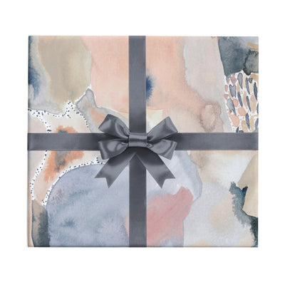 The Baker pink and black watercolor abstract wrapping paper by Revel & Co.