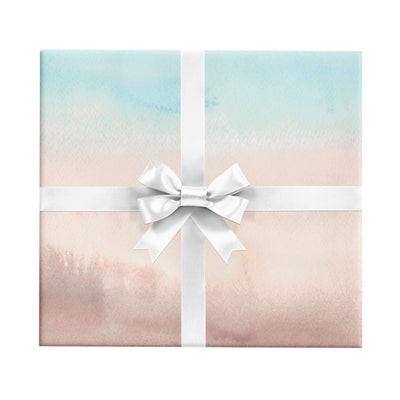 Stono River pink and blue watercolor abstract wrapping paper by Revel & Co.