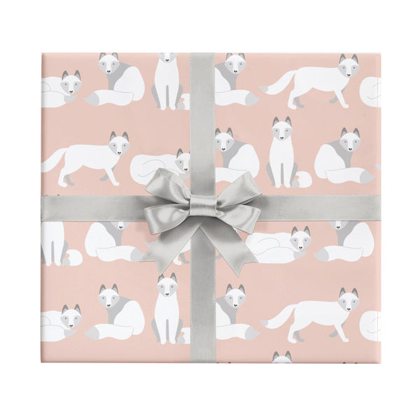 Arctic fox wrapping paper by Revel & Co.