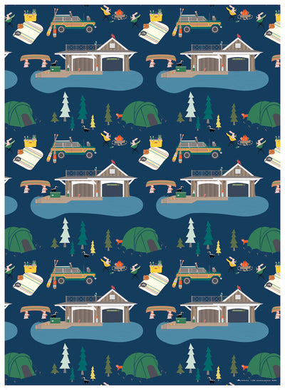 Camping gift wrap by REVEL & Co.