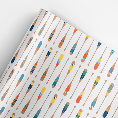 Paddles gift wrap by REVEL & Co.