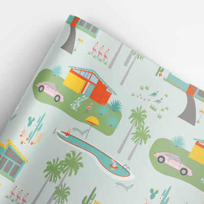 Palm Springs Christmas gift wrap by REVEL & Co.