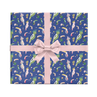 Tropical bird wrapping paper by REVEL & Co.