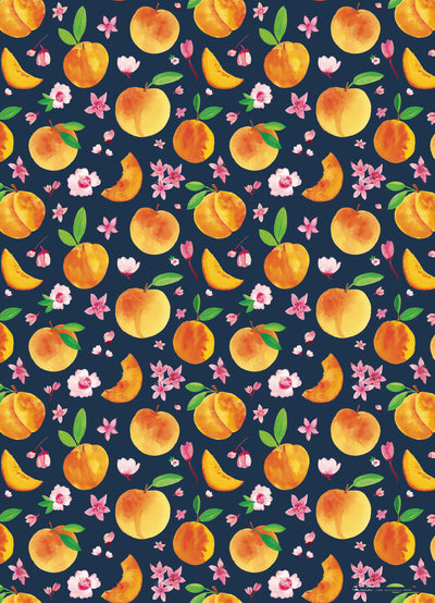 Peaches Gift Wrap Sheet