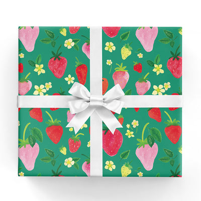 Strawberries Gift Wrap Sheet