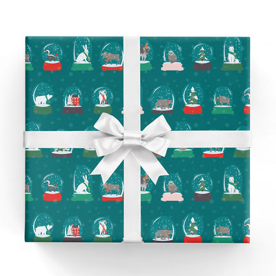 Snow Globes Gift Wrap