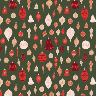 Classic Christmas Ornaments Gift Wrap
