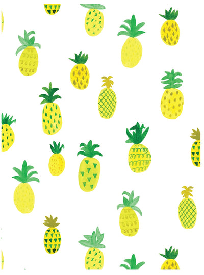 Watercolor pineapples tropical wrapping paper by Revel & Co.