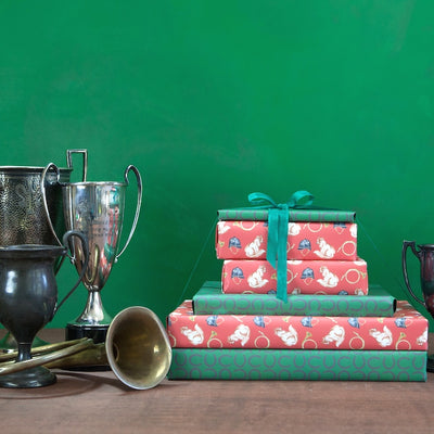 Fox hunting wrapping paper by Revel & Co.