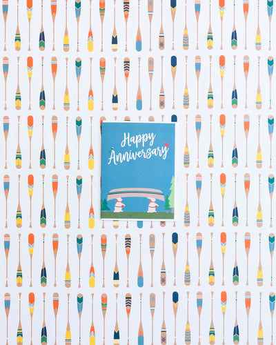 Anniversary card and oars gift wrap by REVEL & Co.