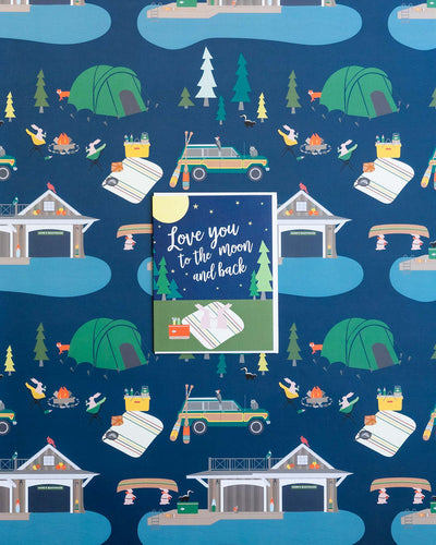 Summer camp anniversary card Love You to the Moon and Back by REVEL & Co.