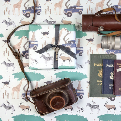 Safari gift wrap by Revel & Co.
