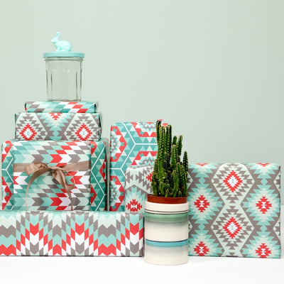 Southwestern quilt gift wrap by Revel & Co.