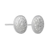 Earrings Sterling Silver Stud Clear Cluster Cubic Zirconia